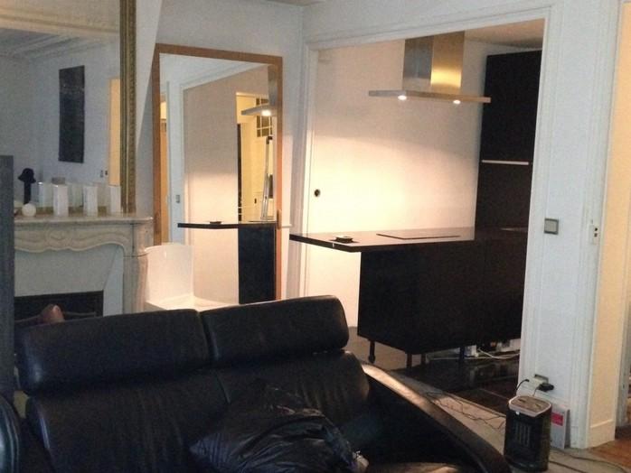 Rue de Dunkerque, Paris 10, transformation de la salle de bain en cuisine et ouverture sur le séjour