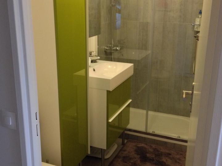"""Studio rue Parmentier, Paris 10, salle de bain """"après"""""""